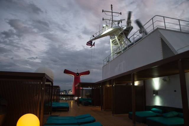 Beautiful sky view from Serenity Deck on the Carnival Sunshine Spring 2018