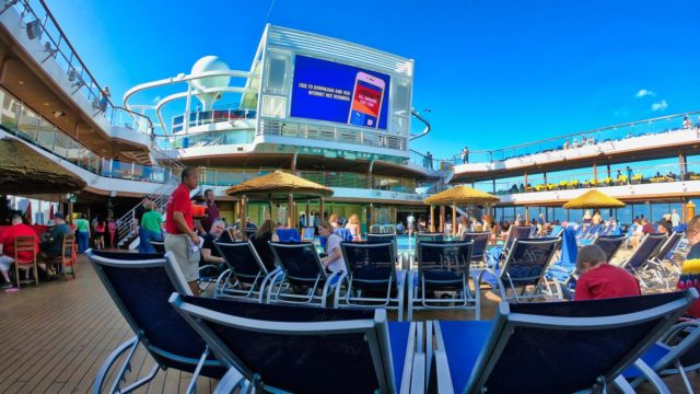 Carnival Horizon Relaxing Poolside Evening