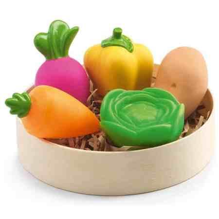 Djeco zabawka warzywa gumowe