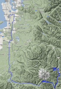 Mt Rainier to Seattle
