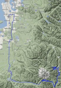 Mt Rainier to Seattle