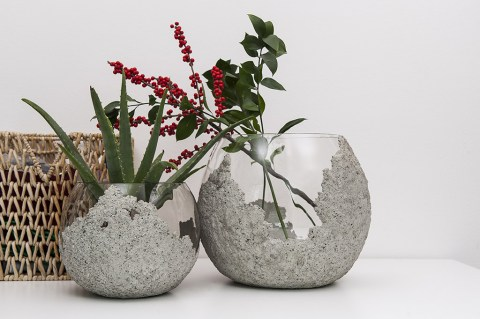The Other Half Concrete Vases Collection By Daevas Design
