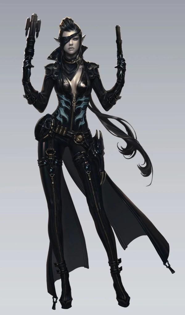 Female Gunslinger Concept Art