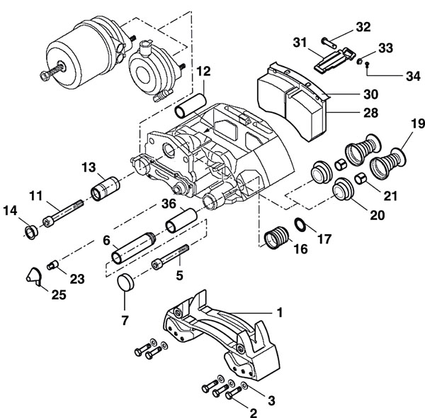 Trailer Axles • BPW Axle • Brake Assembly Parts List • SKH