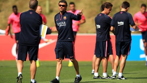 Image result for luis Enrique coaching images