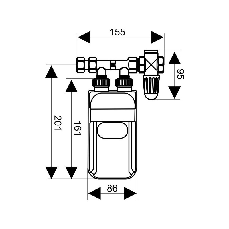 Pequeño calentador de agua bifásica Dafi 7,5 kW 400 V con
