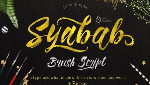 Syabab Script Font Free