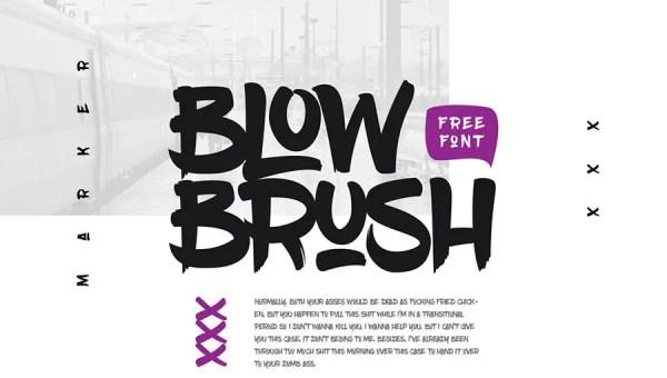 Blow Brush Font Free