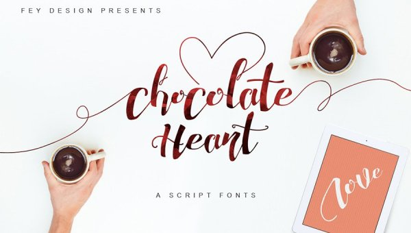 Chocolate Heart Font Free