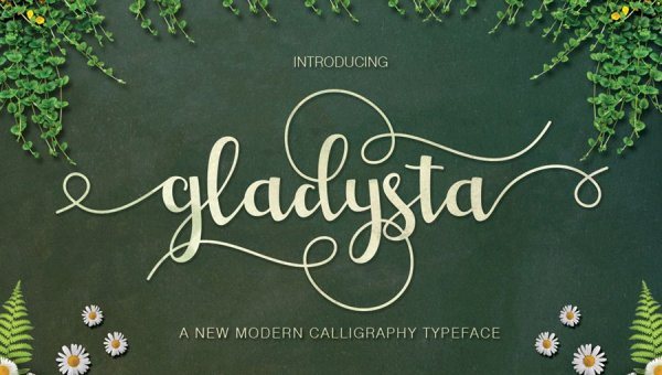 Gladysta Script Font Free