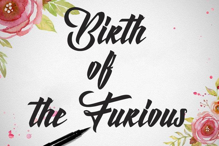 birth-of-the-furious-font