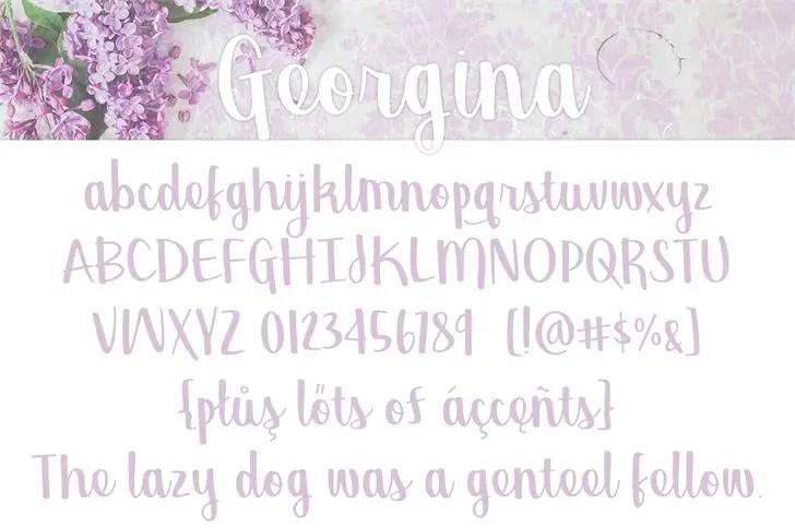 georgina-script-font