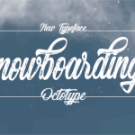 Snowboarding Font Free