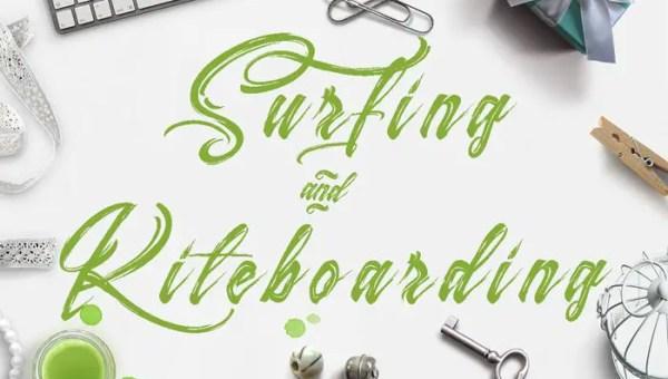 Surfing & Kiteboarding Font Free