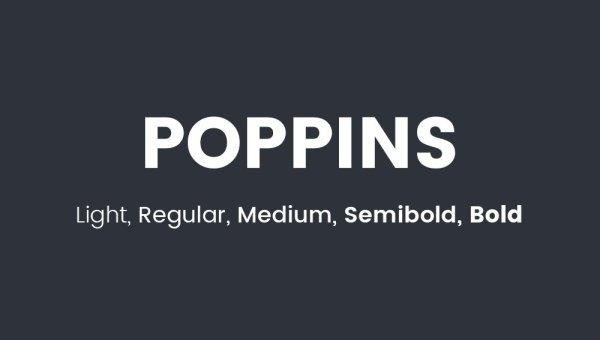Poppins Font Free