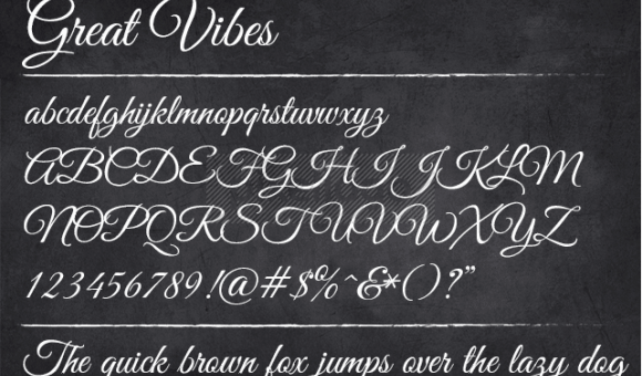 Great Vibes Font Family Free Download