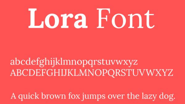 Lora Font Free