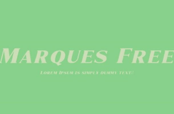 Marques Font Family Free