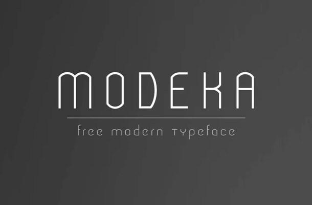 Modeka Font Free