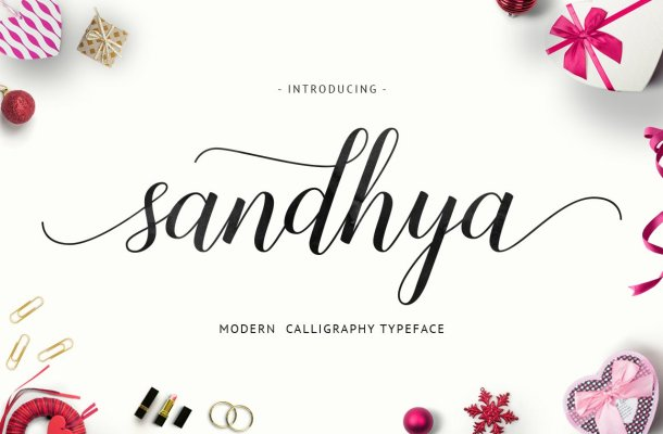 Sandhya Script Font Free