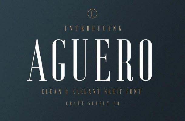 Aguero Serif Font Free