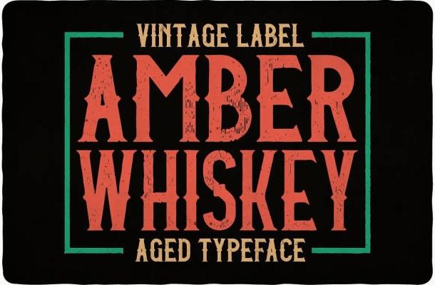 Amber Whiskey Typeface Free