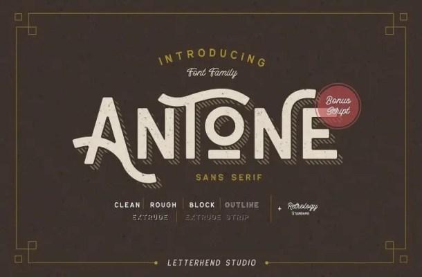 Antone Font Family Free