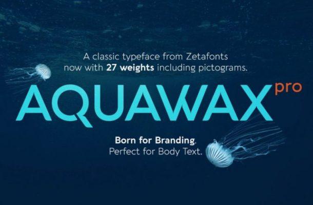 Aquawax Pro Font Family Free