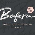 Bafora Brush Font Free
