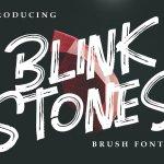 Blink Stones Brush Font Free