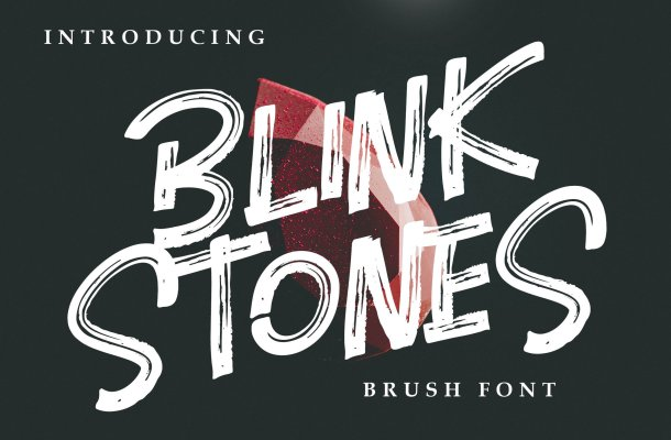 Blink Stones Brush Font Free