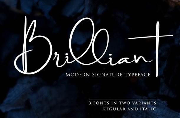 Brilliant Signature Font Free