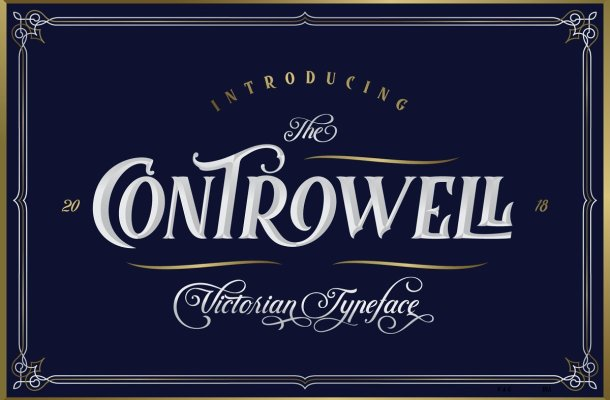 Controwell Victorian Typeface Free