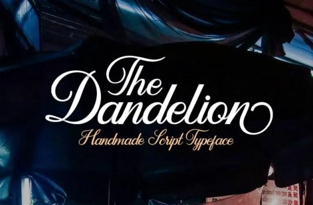 Dandelion Script Font Free