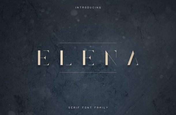 Elena Luxe Serif Font Free