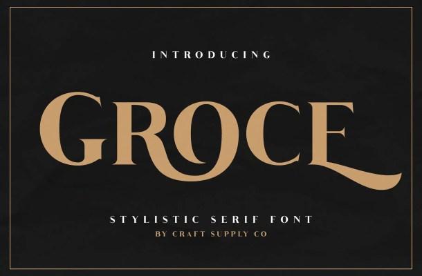 Groce Stylistic Serif Font Free