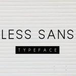 Less Sans Minimal Typeface Free