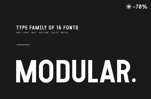 Modular Font Family Free