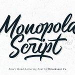 Monopola Script Font Free