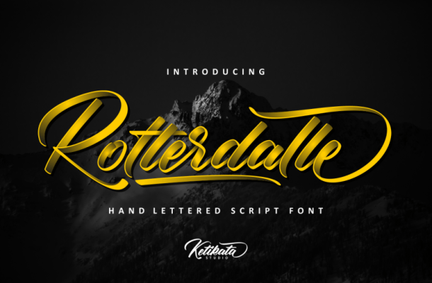 Rotterdalle Script Font Free