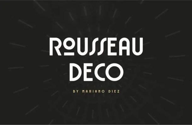 Rousseau Deco Font Free