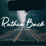 Ruthen Back Stylish Font Free