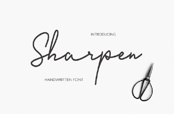 Sharpen Handwriting Font Free