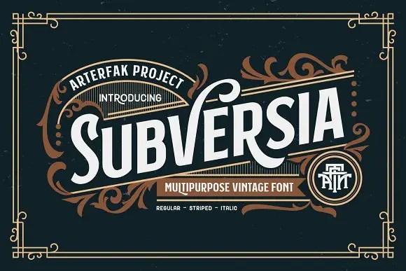 Subversia Typeface Free
