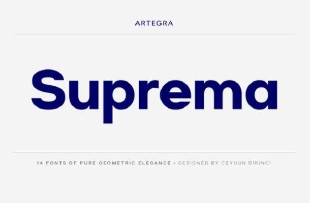 Suprema Font Family Free