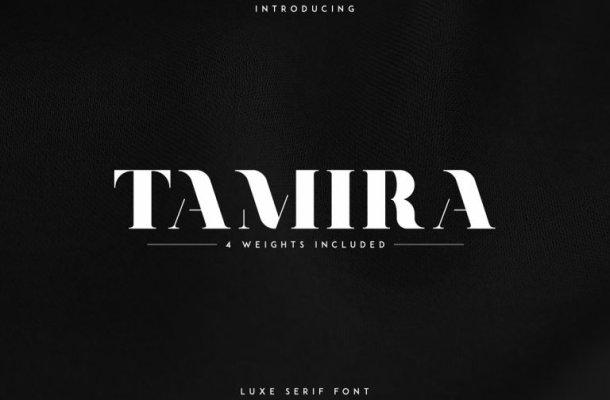 Tamira Typeface Free