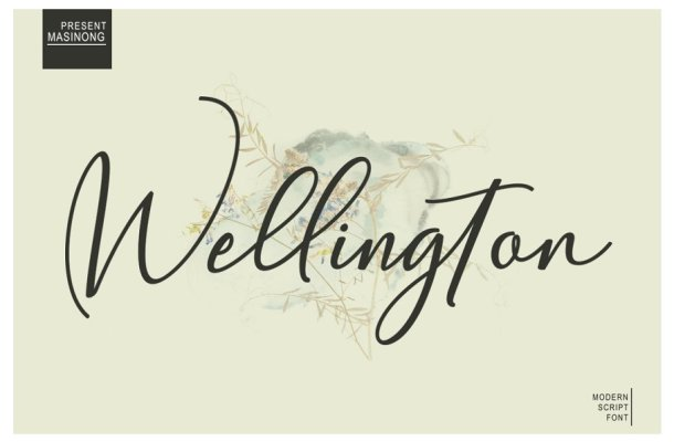 Wellington Calligraphy Font Free