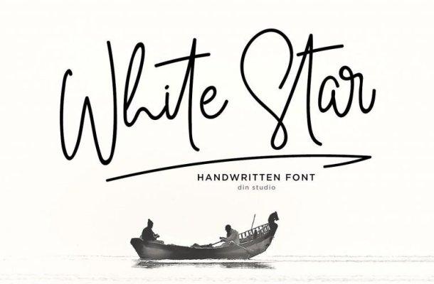 White Star Handwritten Font Free