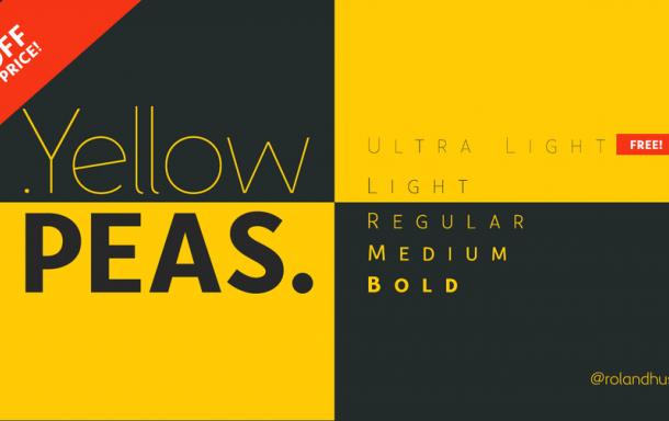 Yellow Peas Font Family Free
