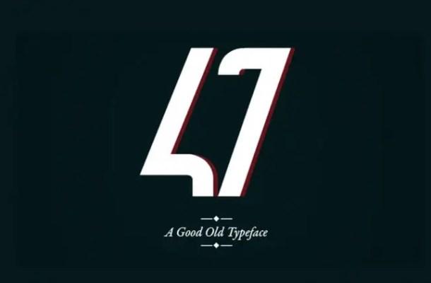 47 Typeface Free